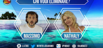 Nathaly e Massimo in nomination all'Isola dei Famosi 2017