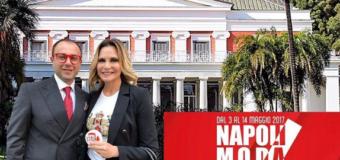 Simona Ventura all'opening di Napoli Moda Design