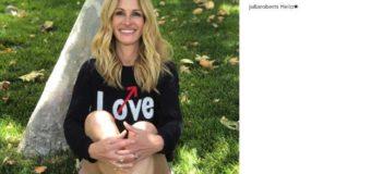 Julia Roberts debutta su Instagram: oltre 300000 folowers in un solo giorno